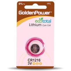 باتری سکه ای 1216 گلدن پاور - پک 1 عددی