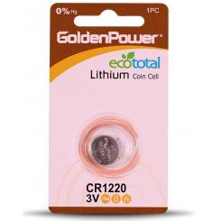 باتری سکه ای 1220 گلدن پاور - پک 1 عددی