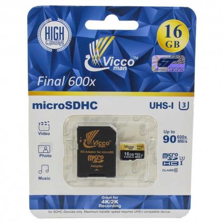 کارت حافظه microSDHC ویکو من 16 گیگابایت 90 مگابایت Vicco man Class10