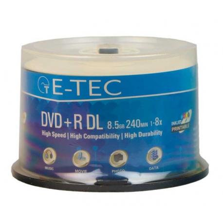 DVD خام 8.5 گیگابایتی - DVD 9 ایتک E-TEC پک 50 عددی