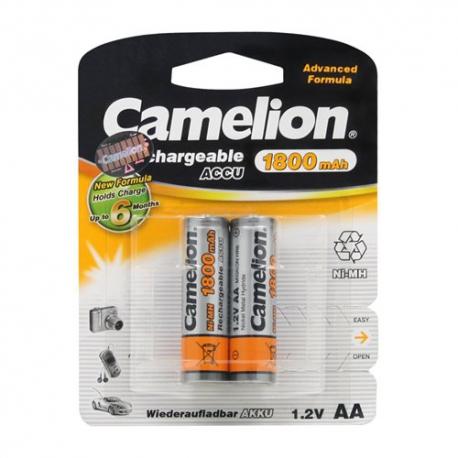 باتری قلمی قابل شارژ کملیون ظرفیت 1800 میلی آمپر ساعت بسته 2 عددی