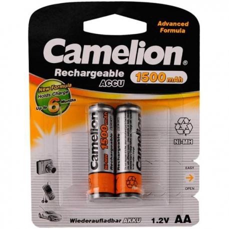 باتری قلمی قابل شارژ کملیون مدل ACCU 1500mAh بسته 2 عددی