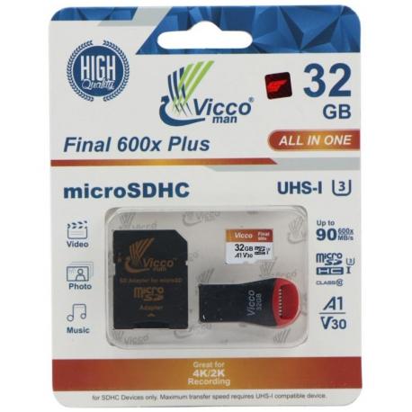 کارت حافظه microSDHC ویکو من مدل Final 600X ظرفیت 32 گیگابایت همراه با آداپتور SD