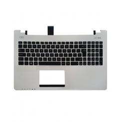 کیبورد لپ تاپ ایسوس S550 مشکی - با قاب C نقره ای