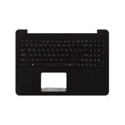 کیبورد لپ تاپ ایسوس VivoBook X556 مشکی - با قاب C قهوه ای