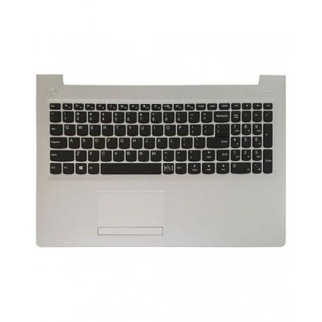 کیبورد لپ تاپ لنوو IdeaPad 310-15 مشکی - با قاب نقره ای - به همراه تاچ پد