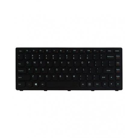 کیبورد لپ تاپ لنوو IdeaPad S410 مشکی - با فریم فلت کج