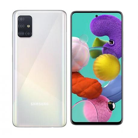 گوشی موبایل سامسونگ Galaxy A51 دو سیم کارت 128 گیگابایت سفید