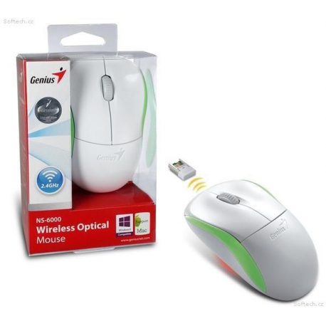 Genius NS-6000 Optical Wireless Mouse - Green