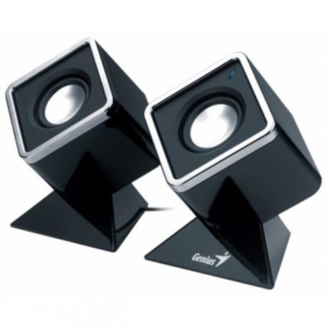 Genius SP-D120 Black Cubed Stereo Speakers