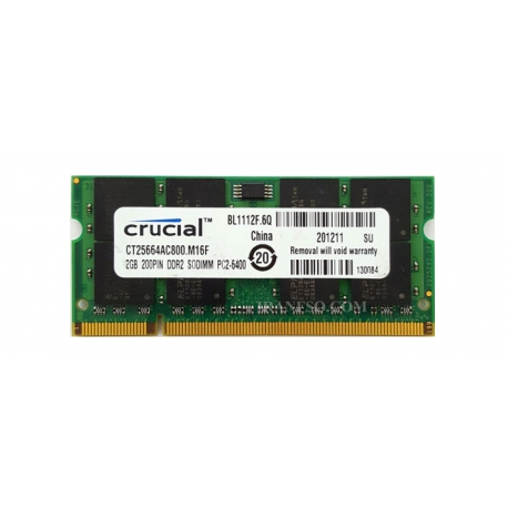 رم لپ تاپ 2 گیگ Crucial DDR2-800-6400 MHZ 1.8V