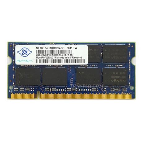 رم لپ تاپ 2 گیگ Nanya DDR2-667-5300 MHZ 1.8V