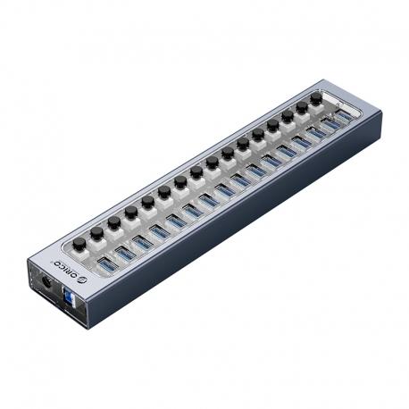 هاب 16 پورت USB3.0 اوریکو با کلید ORICO AT2U3-16AB