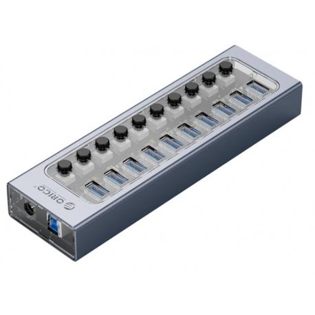 هاب 10 پورت USB3.0 اوریکو با کلید ORICO AT2U3-10AB