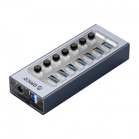 هاب 7 پورت USB3.0 اوریکو با کلید ORICO AT2U3-7AB