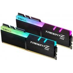 رم دسکتاپ DDR4 جی اسکیل دو کاناله 3000 مگاهرتز مدل Trident Z RGB ظرفیت 16 گیگابایت CL16
