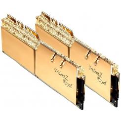 رم دسکتاپ DDR4 جی اسکیل دو کاناله 3200 مگاهرتز مدل Trident Z Royal Gold ظرفیت 32 گیگابایت CL16