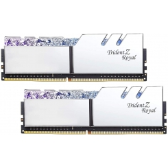 رم دسکتاپ DDR4 جی اسکیل دو کاناله 3200 مگاهرتز مدل Trident Z Royal Silver ظرفیت 32 گیگابایت CL16