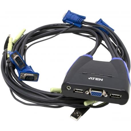کی وی ام سوئیچ 4 پورت USB آتن مدل CS64US