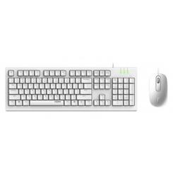Rapoo X120 Pro Keyboard & Mouse Combo White