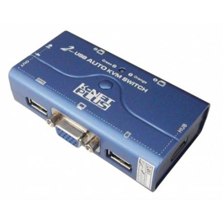 سوئیچ کی وی ام کی نت 4 پورت یو اس بی با کابل KVM Switch Knet